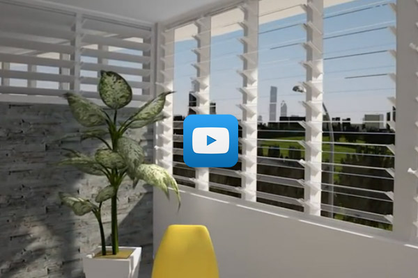 Video Altair Louvre Windows with Stronghold for multi storey buildings