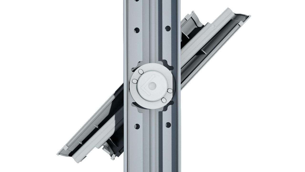 Altair Louvre high strength acetal bearings and aluminium operation bars