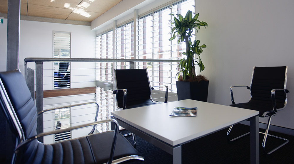 Breezway Louvre Windows in an office environment