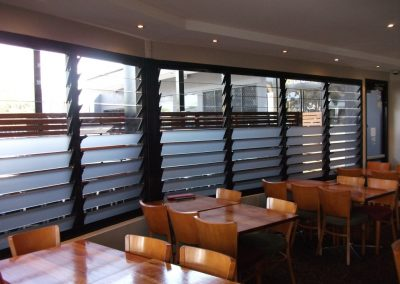 Altair Louvres can have a variety of blades installed to provide privacy while allowing plenty of light and fresh air to keep occupants comfortable.