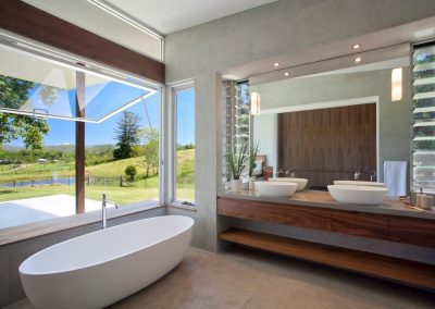 Altair Louvres in the bathroom help reduce mirrors from fogging up