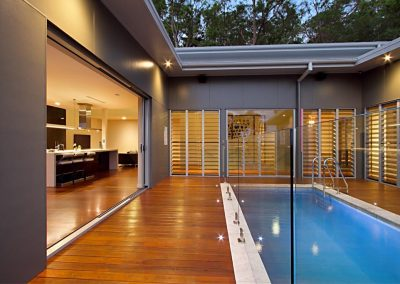 Louvres around the pool allow for great views