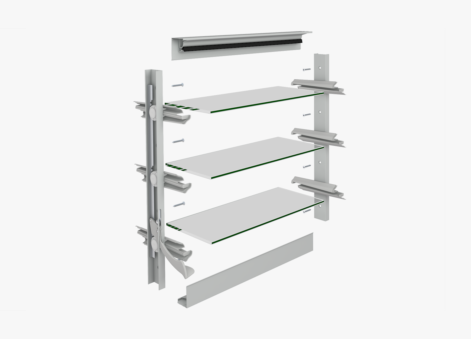 Altair Louvres In Other Aluminium Or Timber Window Frames