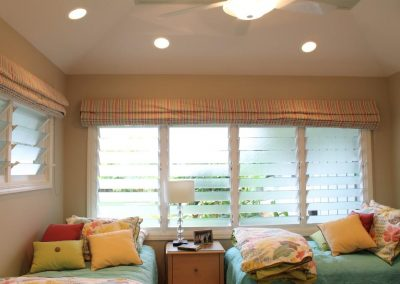 Breezway Louvres in the bedroom help to create a comfortable environment