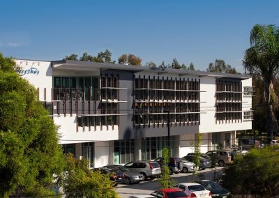 The Breezway Head Office integrates a mixture of automated and manual louvre windows