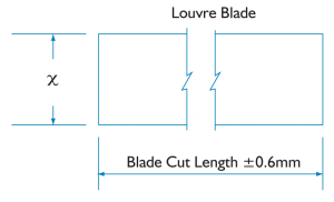 Extension blade dimensions