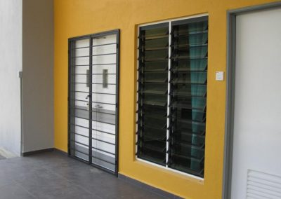 Altair Louvres with security bars