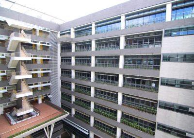 Louvres on multiple floors of hospital