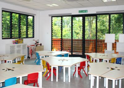 Learning environment with Breezway louvres to allow fresh air to stimulate young minds