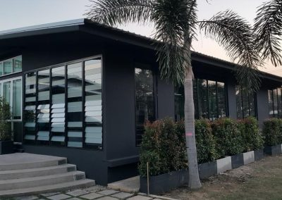 Breezway louvres make great feature walls at Thai Aust Office