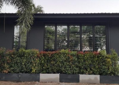 Breezway louvres seal tight to offer protection from the elements
