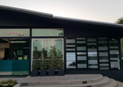 Front entrance to Thai Aust Office with Breezway Louvres