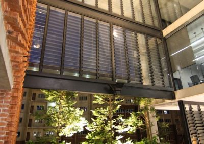 Breezway louvre windows add to the sustainable features of the PAM centre