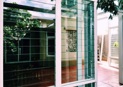 External view of breezway louvres in prinsiri home