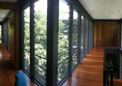 Internal view of breezway louvres on all walls for maximum ventilation