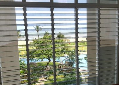 mutliple bays of breezway louvres maximise natural light and air in resort