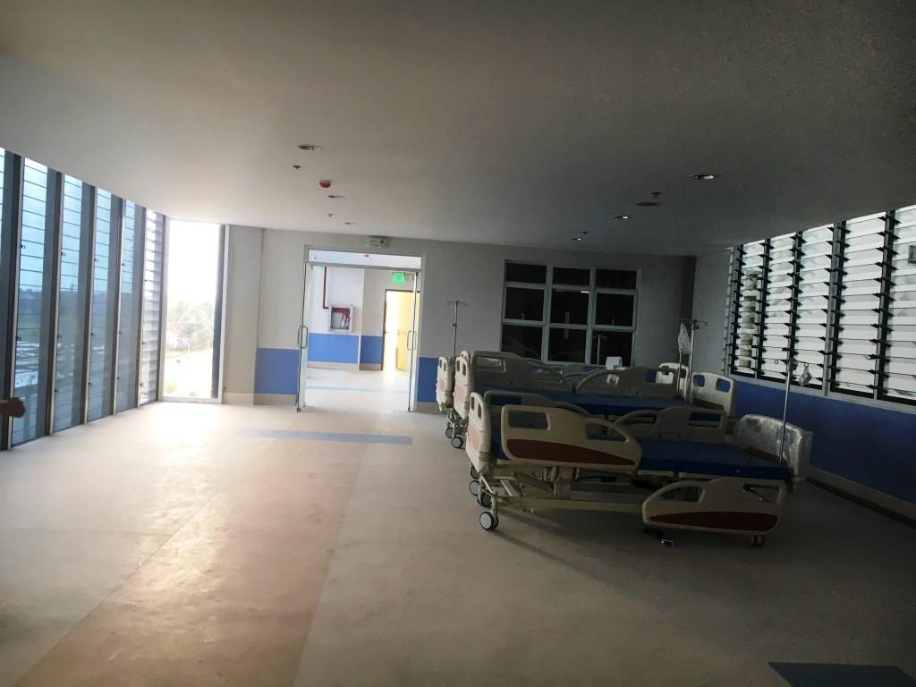 Hospital rooms being prepared inside santiago medical city