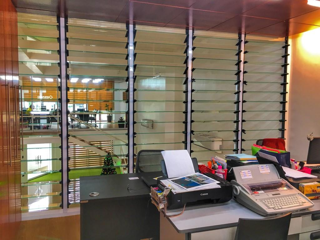Keep office areas bright and airy with breezway louvre windows