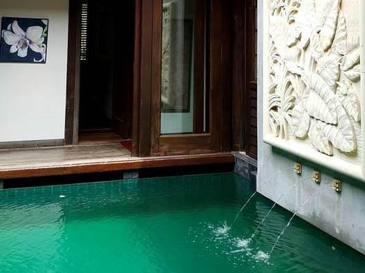 Water feature at kuang retreat