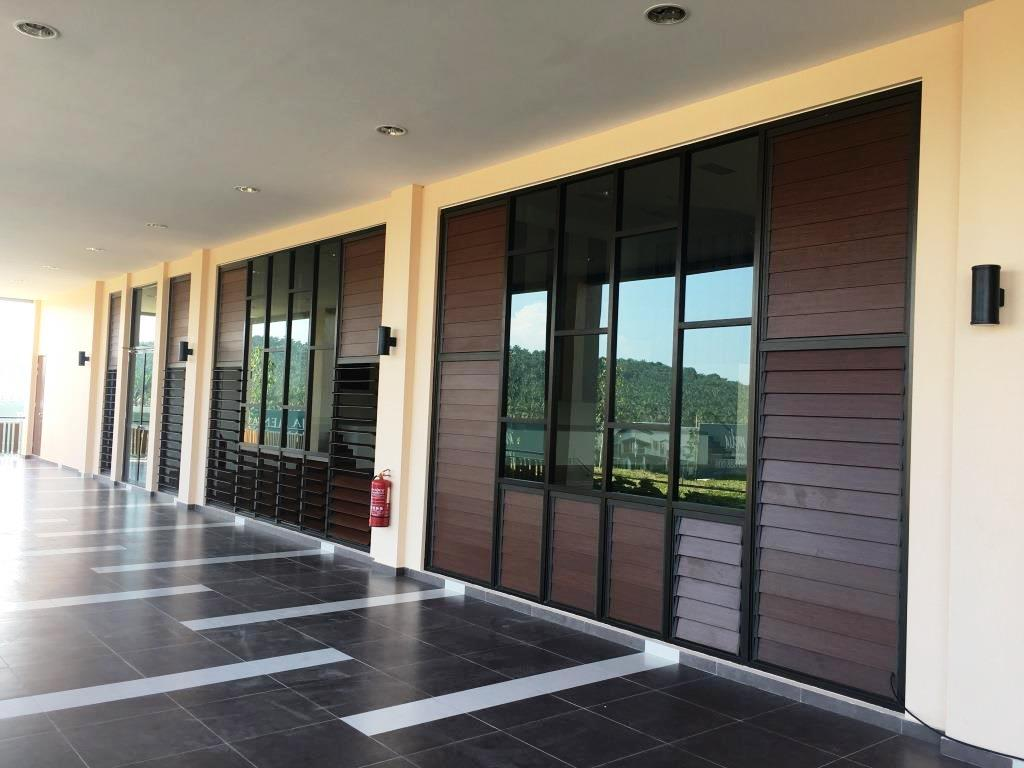 Exterior of the club house with Breezway Louvres