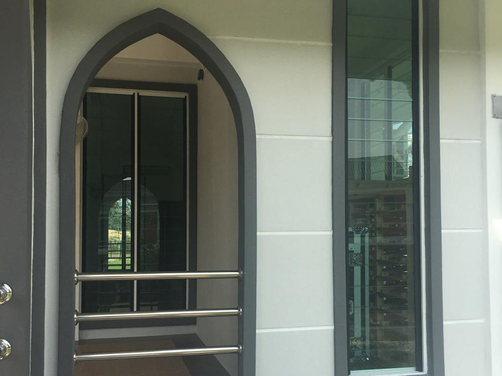Tall narrow Breezway louvres are used in walls with limited space