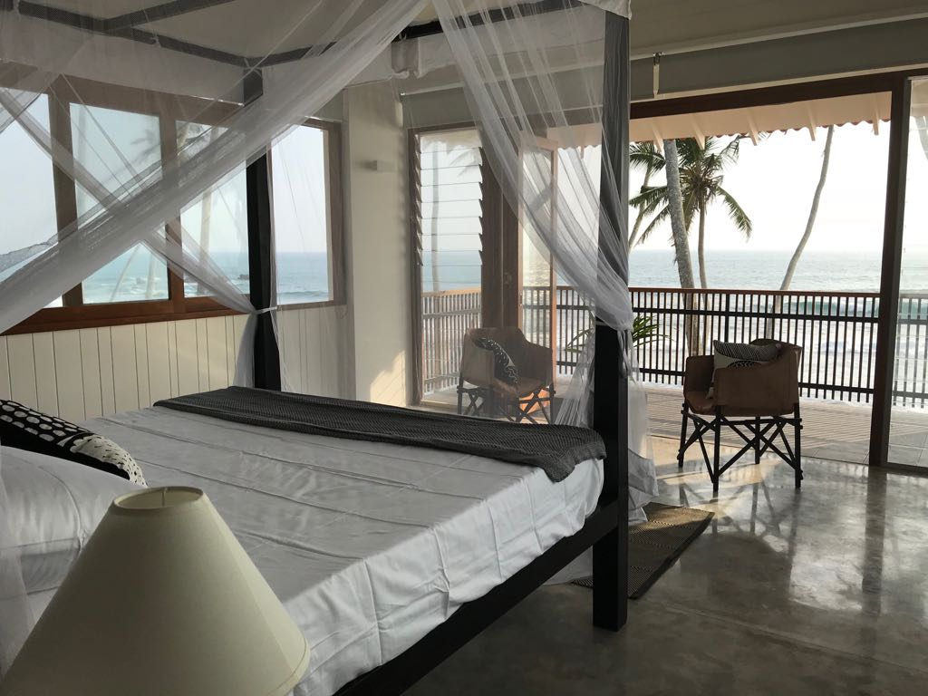 Bedroom view with Breezway Louvres from inside Saltwater Hotel