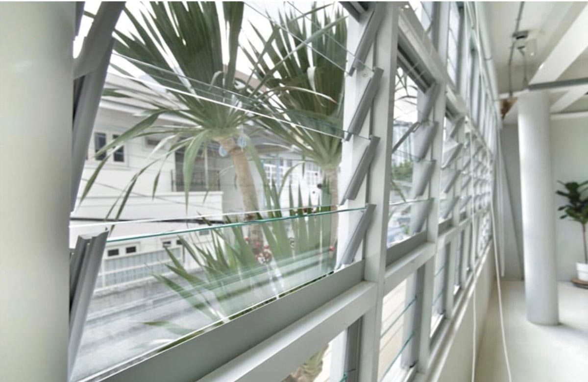 Walls of Breezway Louvres installed into PLP building
